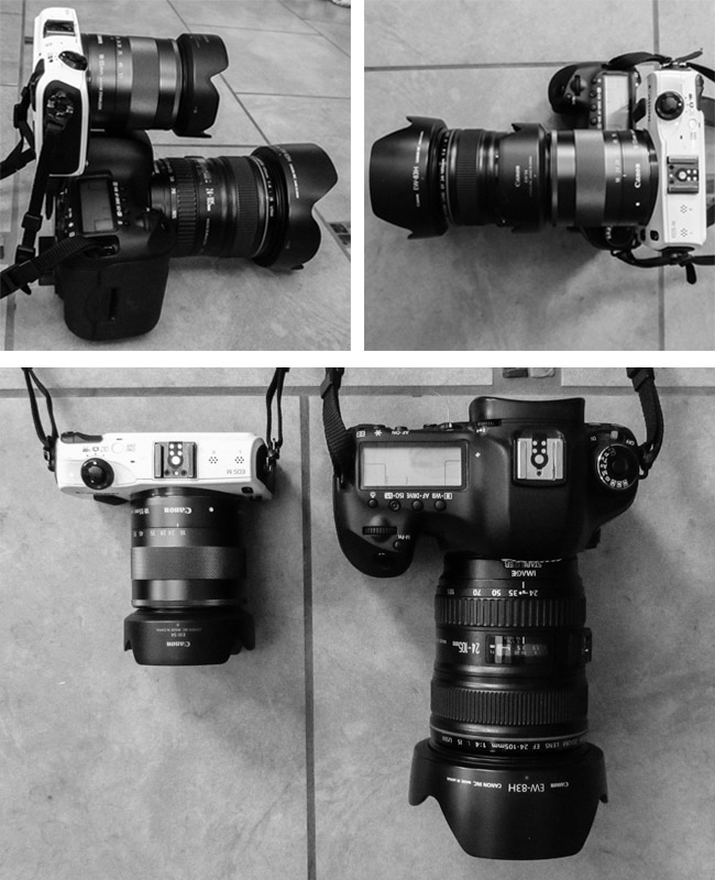 Canon EOS M vs 5d MKiii