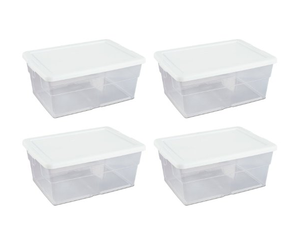 RV clear storage bin