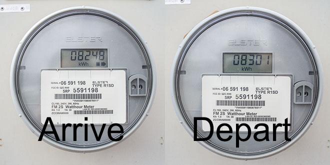 electric meter read mesa
