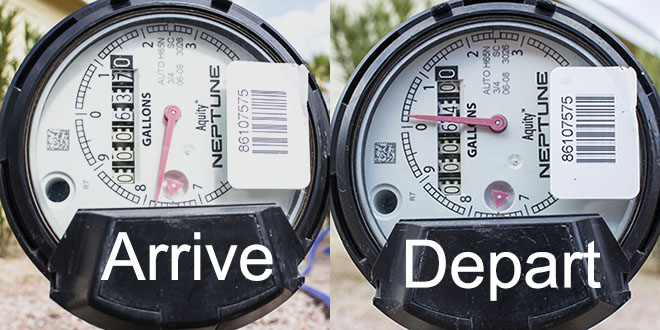 water meter read Mesa