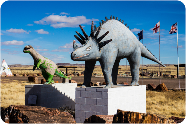 dinosaurs of the petrified forest