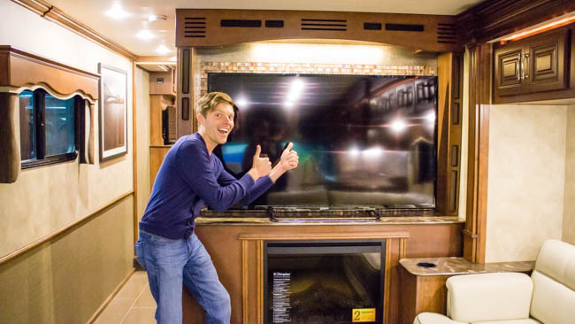 Fancy RV TV