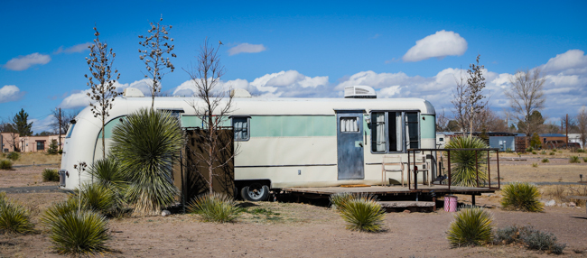 el cosmico retro RV stays in Marfa Texas