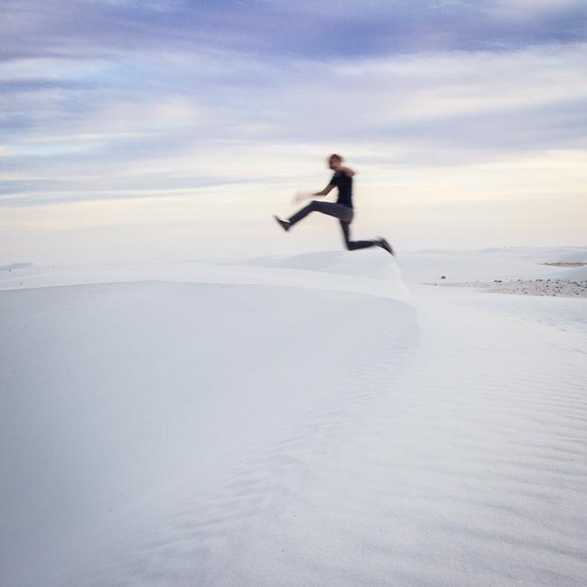 white sand jump