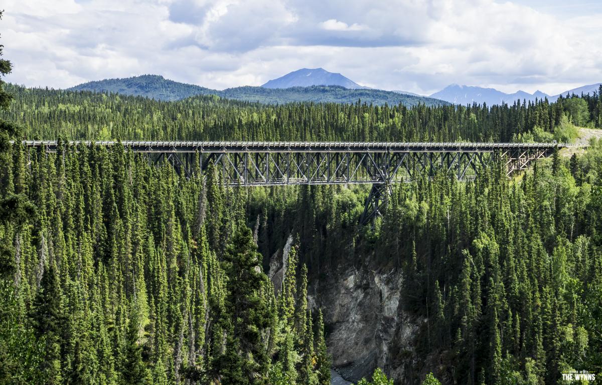 single lane suspension bridge