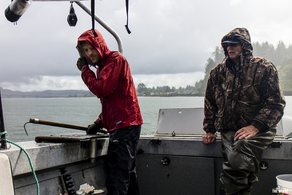 catching Dungeness crab in Oregon