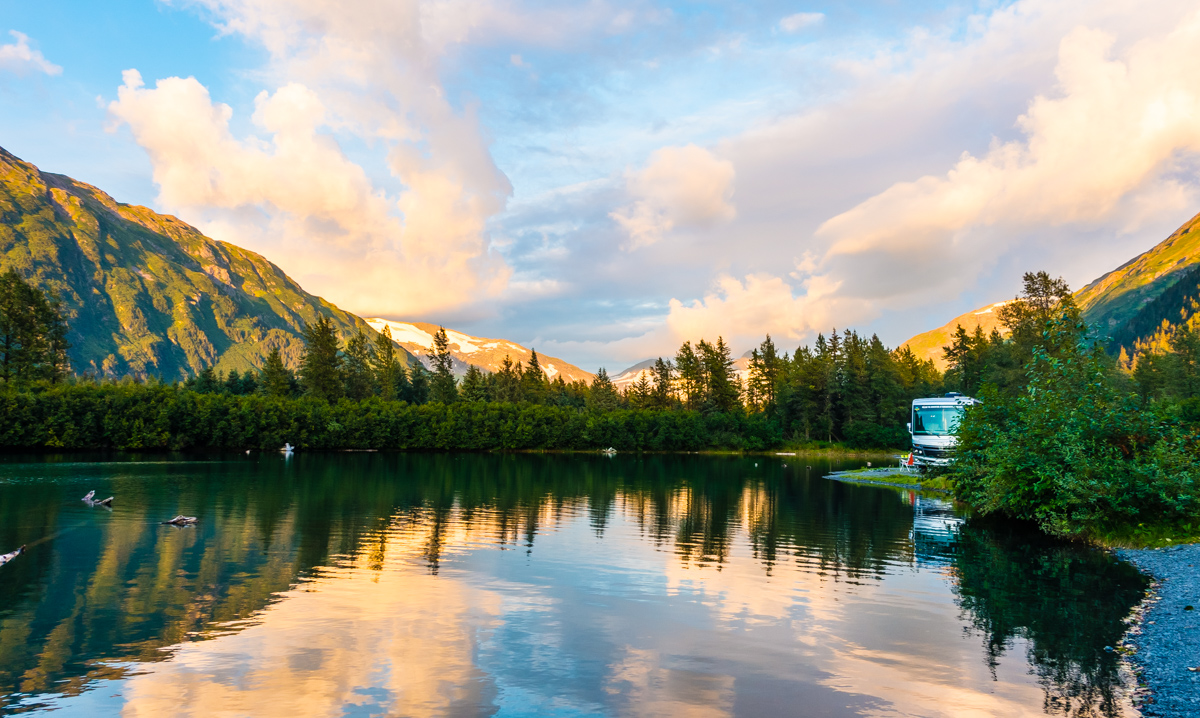 free camping alaska near whittier
