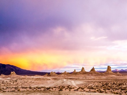 beautiful sunset trona califorina
