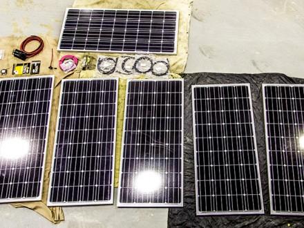 rv solar install