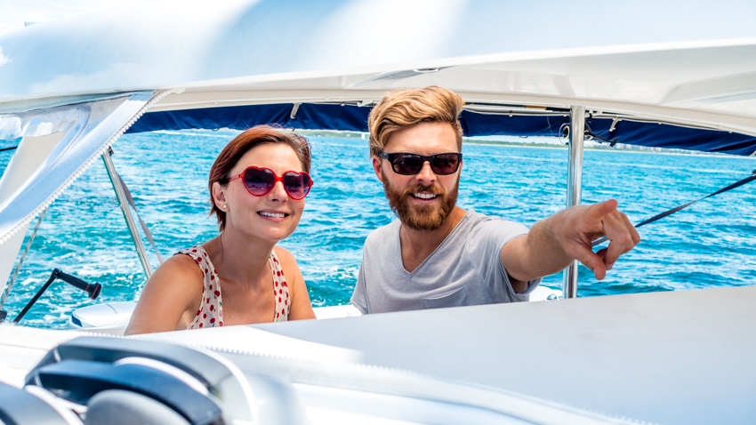 sailing couple