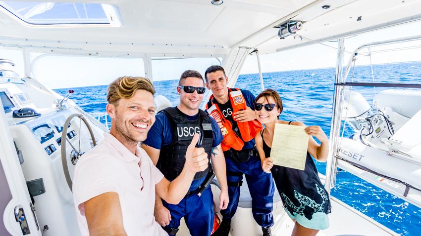coast guard boarded our catamaran