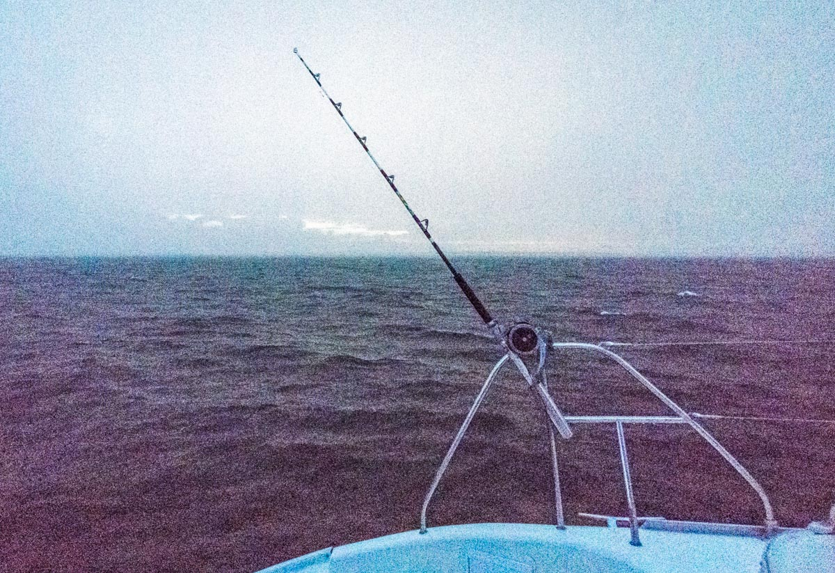 rainy day at sea