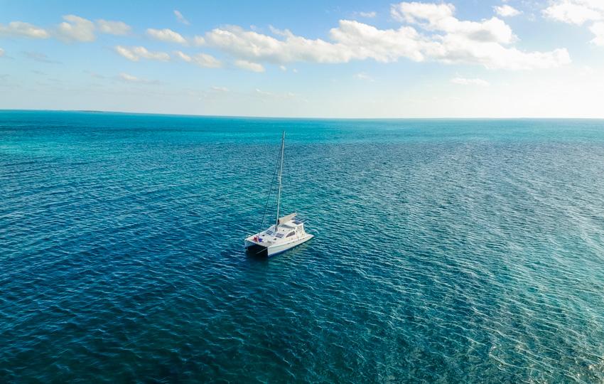 anchored moraine cay bahamas