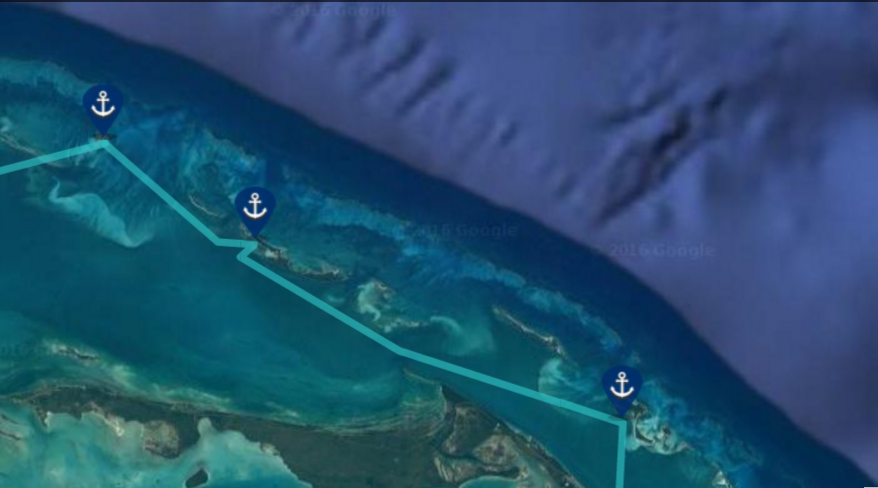 sailing bahamas map