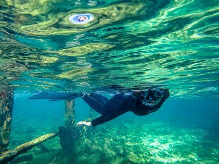 nikki wynn snorkeling bahamas