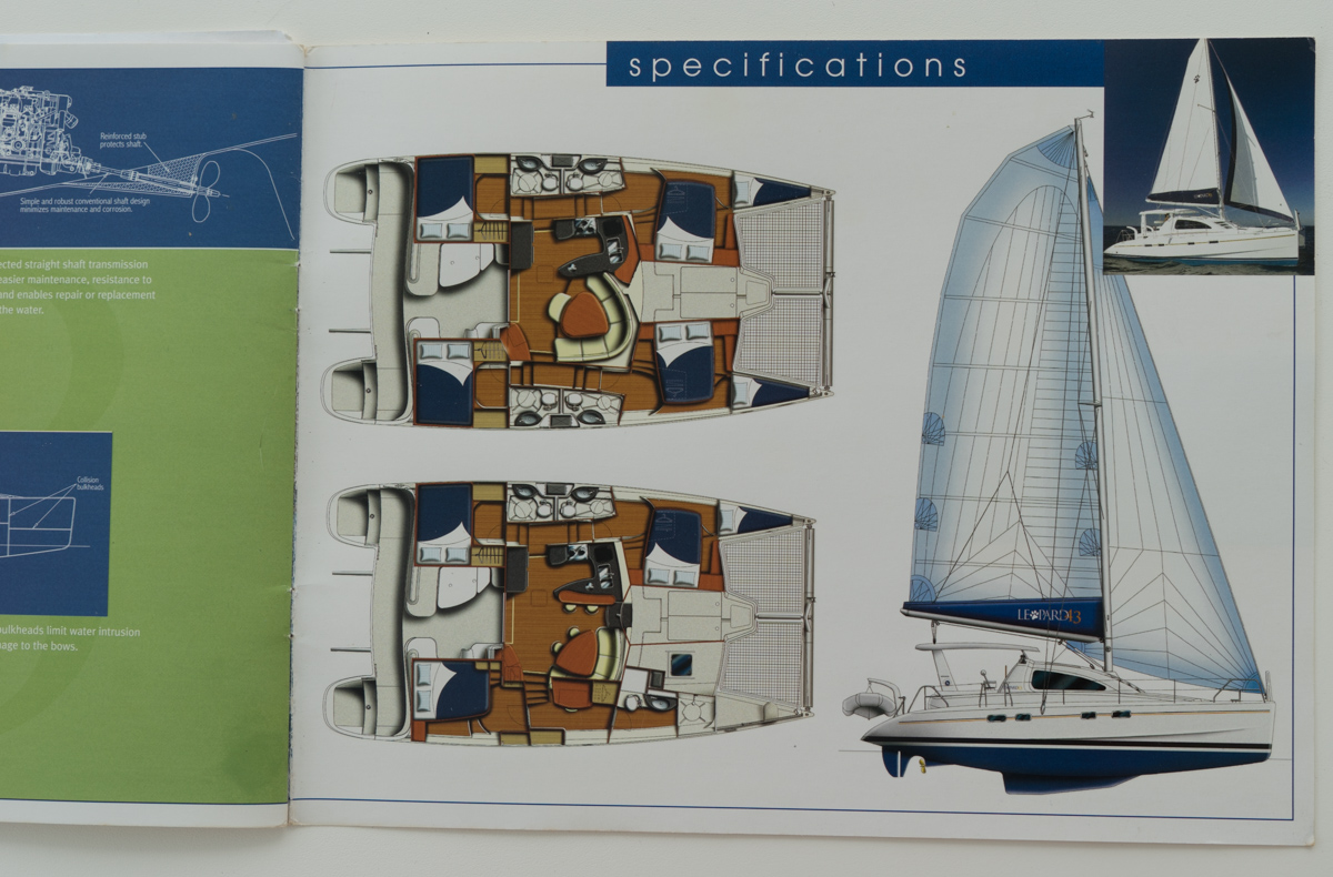 leopard catamaran layout