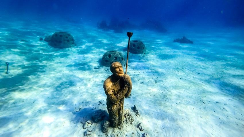 underwater sculpture garden nassau