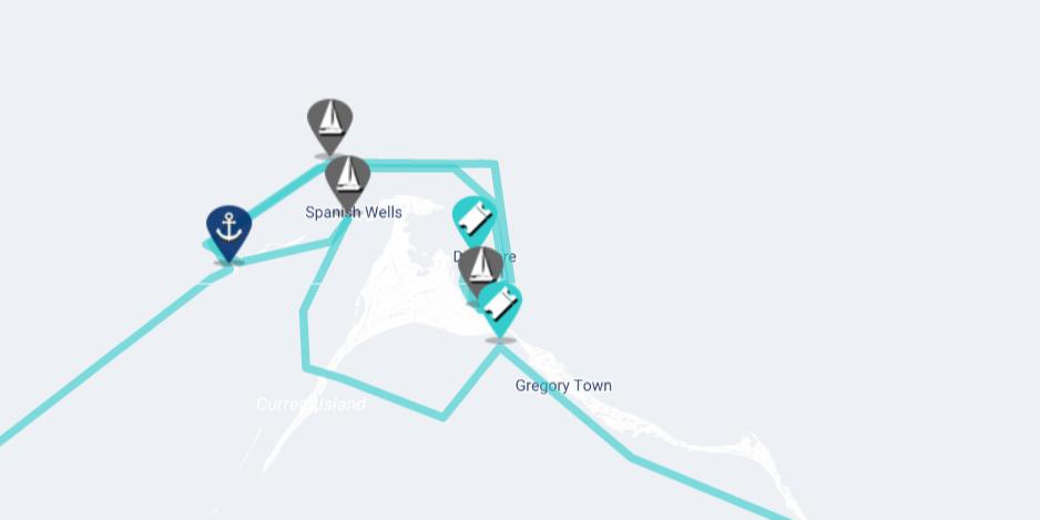 cruising eleuthera map