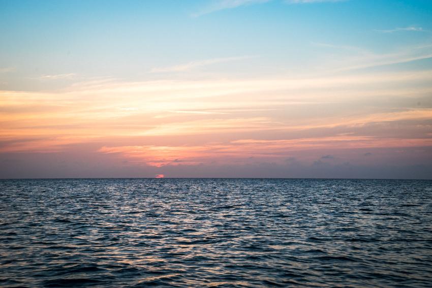 sunsets at sea