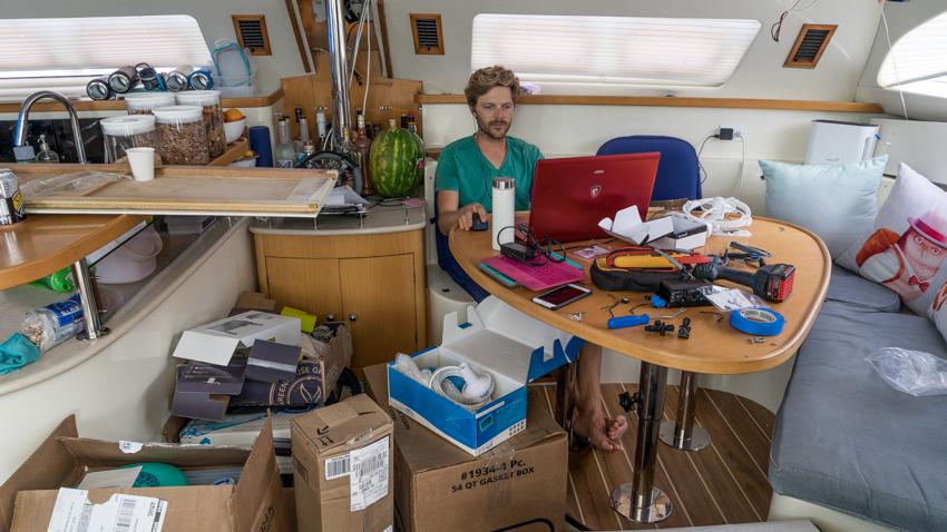 sailboat work chaos