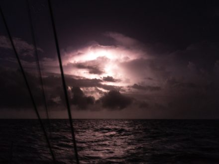 biggest storm and longest sail