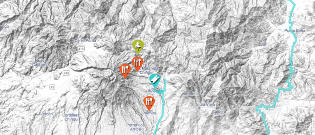 boquete road trip map