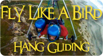 fly like a bird hang gliding