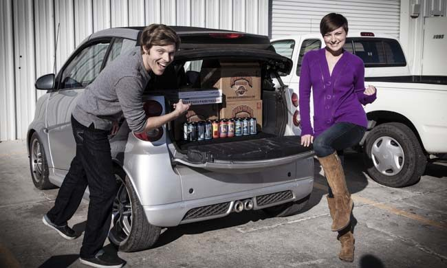 Beer Loaded Smart Car