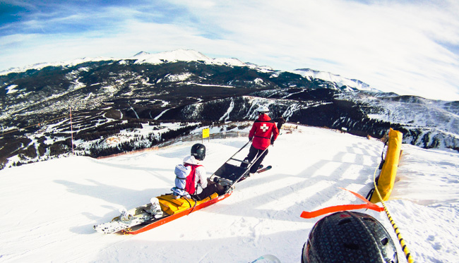 ride with ski patrol