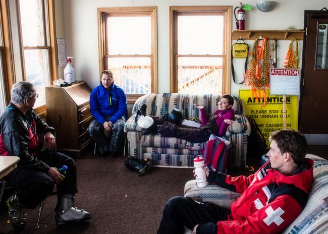 hangin with ski patrol