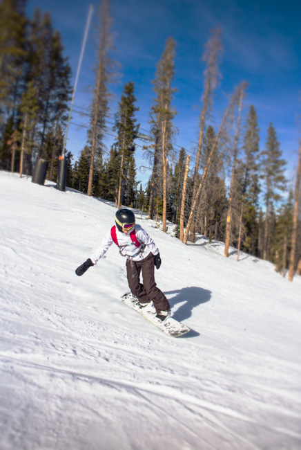 nikki snowboarding