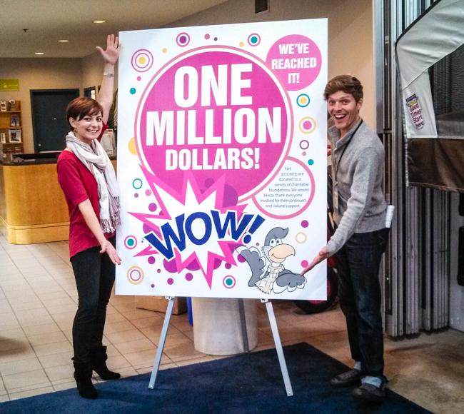 one million donated