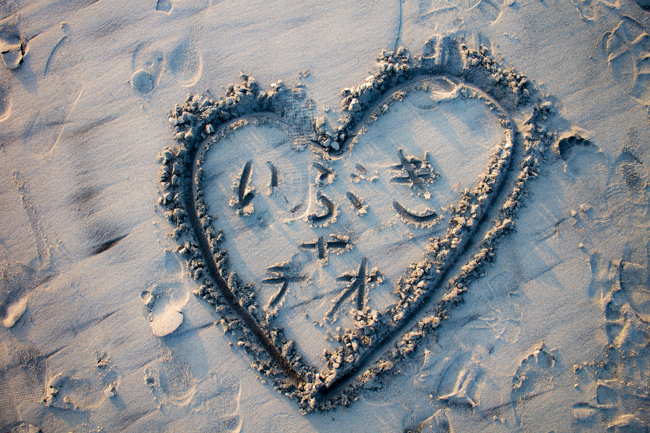 sandy hearts