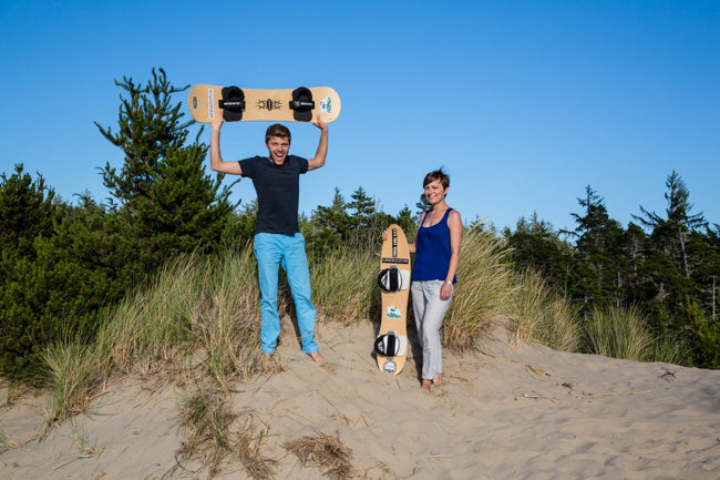 jason and nikki wynn sandboarding in florence oregon