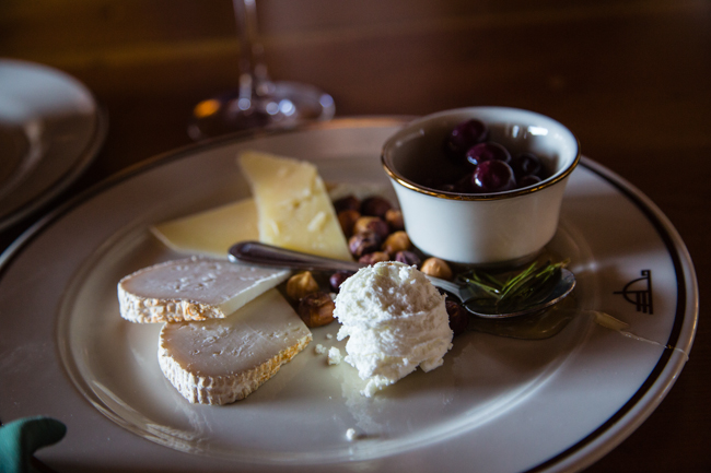 cheese plate at the timberline lodge
