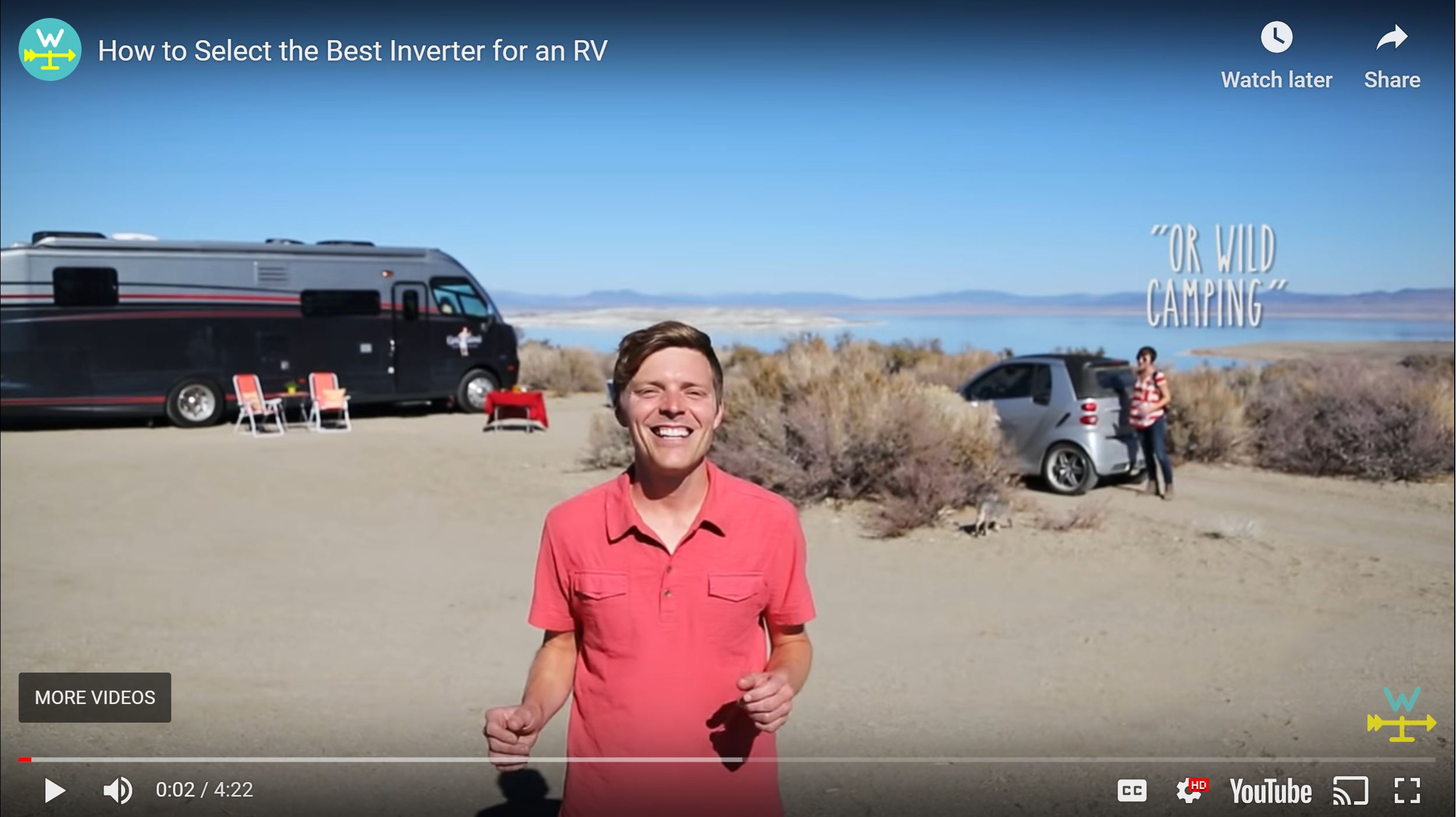 jason and nikki wynn explaining which inverter is best to power electronics in an RV