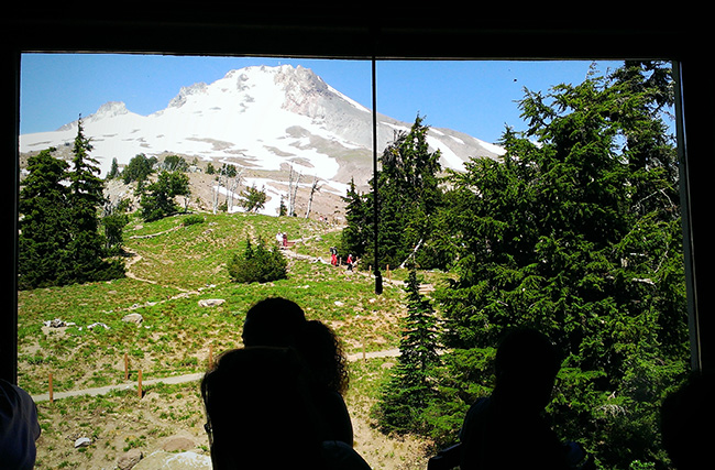 timberline lodge view