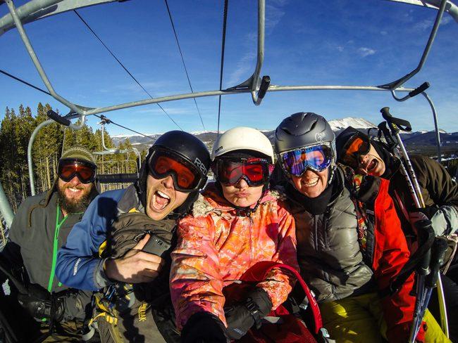 Snowboarding Breck