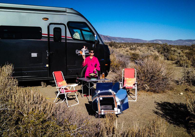 wild camping at mono lake
