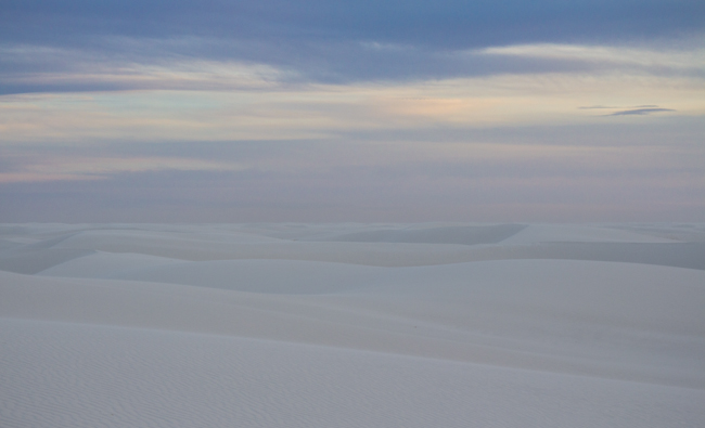 white sands and pastels