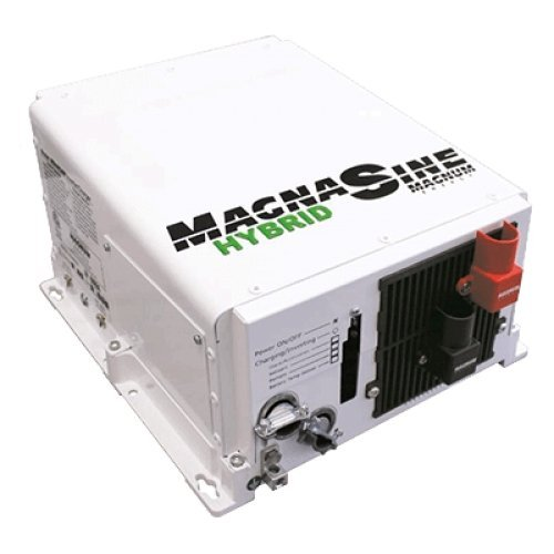 MAGNUM MAGN-MSH3012M / Hybrid Series Inverter/Charger, MFG# MSH3012M, 3000 Watt-120Volt-60Hz inverter, 12 Volt-125 Amp charger, with load support. Power loads with both AC Power (shore or AC generator) and batteries to run larger loads from smaller genera