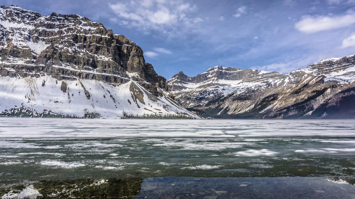 stunning glacier lake