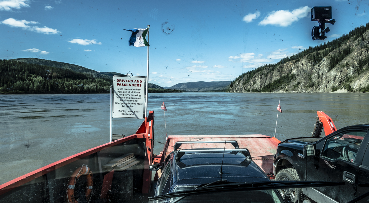 free RV ferry Dawson City Yukon