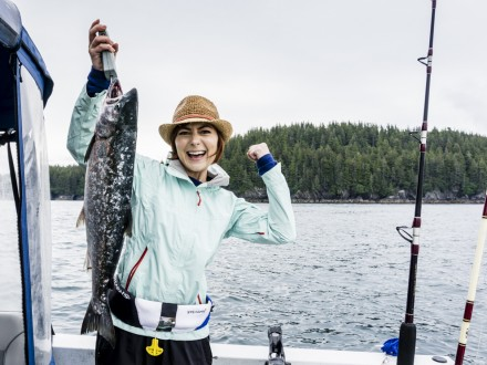 nikki wynn catches silver salmon