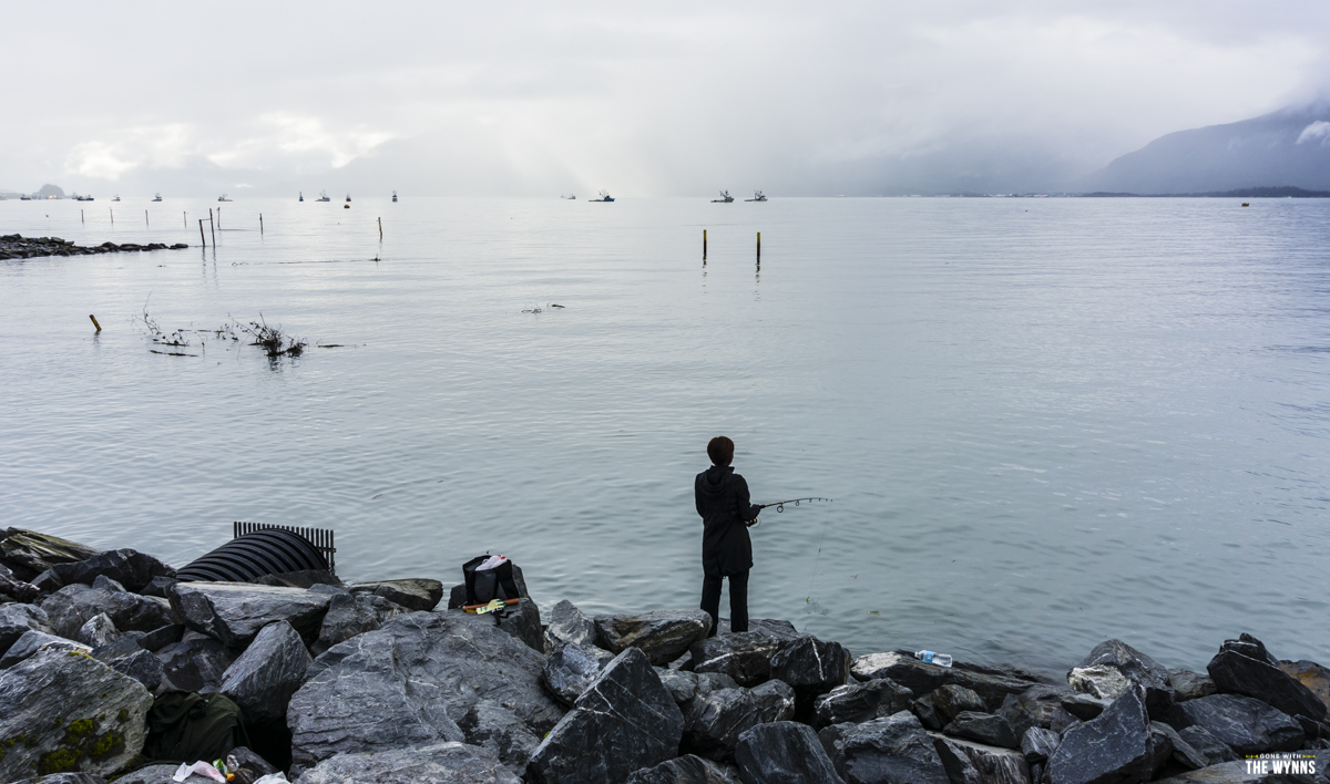 nikki wynn fishing at Allison point