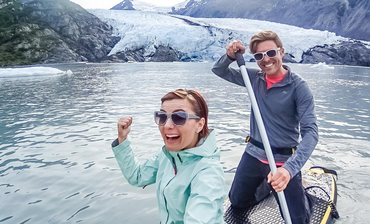 paddleboard alaska glaciers