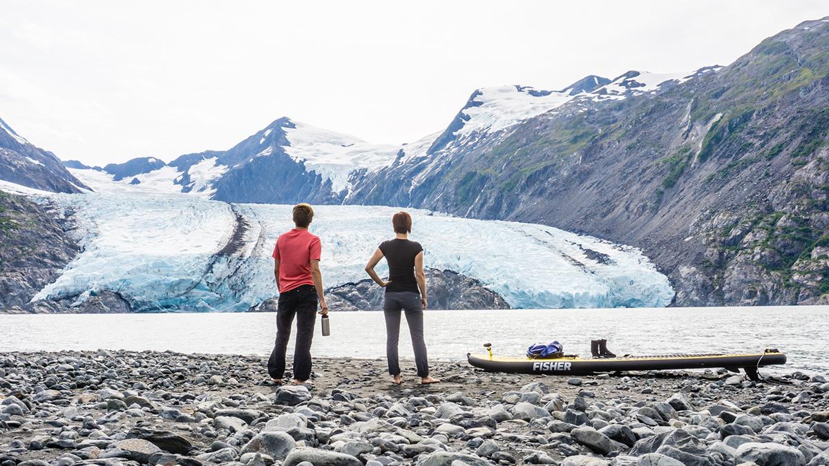 paddleboarding glaciers alaska