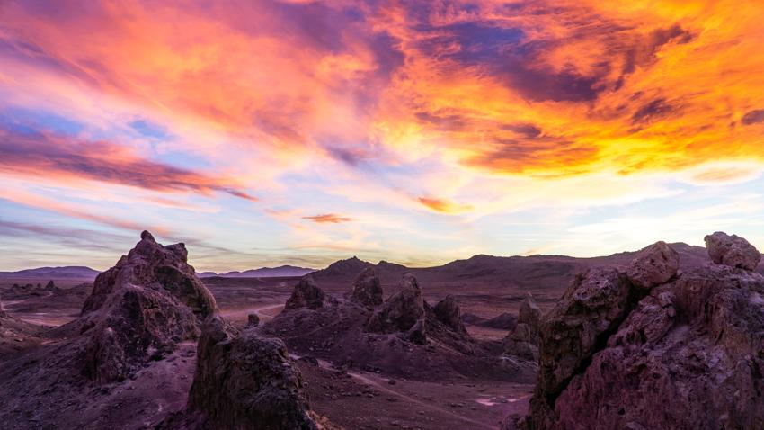 beautiful california desert sunset