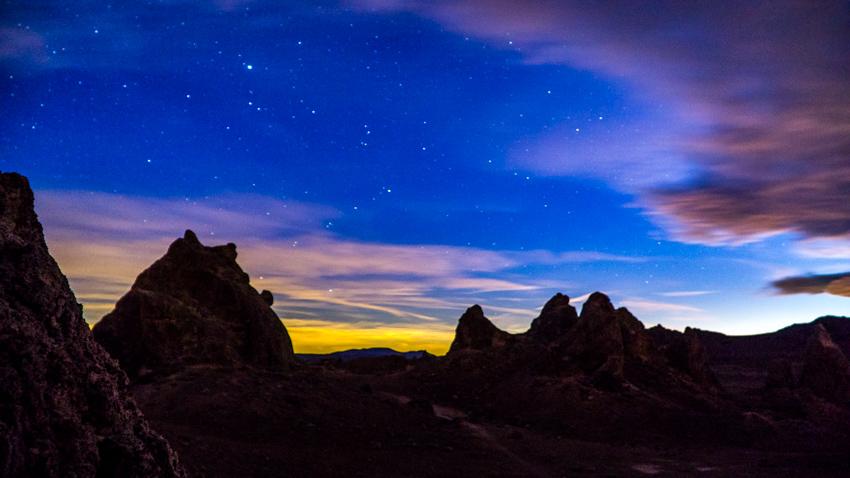 Trona Pinnacles Night Sky