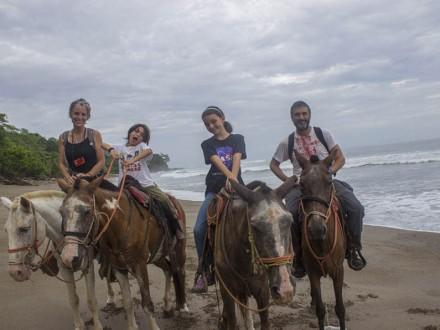 family traveling around the world